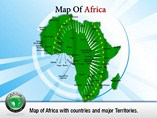 Geographical Map of Africa Templates For Powerpoint