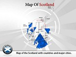 Map of Scotland Templates For Powerpoint