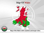 Map of Wales Templates For Powerpoint