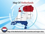 Editable Map of Netherlands Templates For Powerpoint