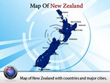 New Zealand Map Powerpoint Templates