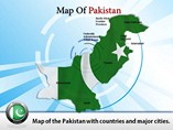Map of Pakistan Templates For Powerpoint