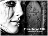 Gothic Clothing  PowerPoint Template