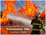 Fire Fighter PowerPoint Template, Fire Fighter PowerPoint Slide Templates