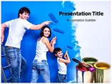 Wall Paint Designs Templates For Powerpoint