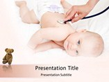 Medical powerpoint background - Baby Care
