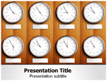 Time Distribution PowerPoint Backgrounds