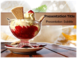 Strawberry Ice Cream Templates For Powerpoint