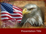 Animal powerpoint background-American Flag