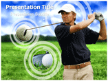 Golf Stick   PowerPoint Template
