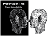 Black and White Anatomy Templates For Powerpoint
