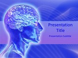 Human Brain PowerPoint Template, Human Brain Templates For PowerPoint