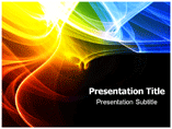 Rainbow Smoke Effect Templates For Powerpoint