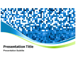 Blue Mosaic Powerpoint Templates