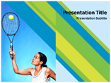 tenis player Templates For Powerpoint