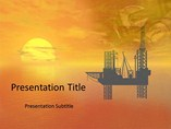 Crude Oil Refinery  PowerPoint Template