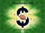 Shaking Hands on Dollar Sign PowerPoint Themes
