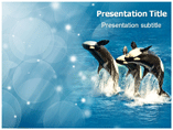 Whales Breaching Templates For Powerpoint