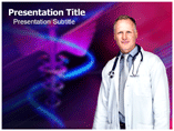 Doctor with stethoscope Templates For Powerpoint