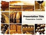 Wine montage Templates For Powerpoint