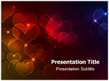 Abstract Hearts Templates For Powerpoint