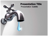 Water wasting Templates For Powerpoint