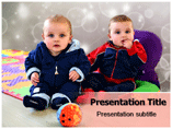 Expecying Twins Templates For Powerpoint