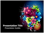 Fancy Design Flower Templates For Powerpoint