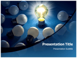 Bright Idea Lighten Bulbs PowerPoint Templates
