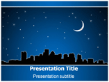 City Shiloutte PowerPoint Templates