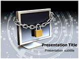 Computer Security Lock PowerPoint Templates