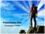 Mountain Climber PowerPoint Templates