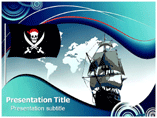 Old Ship & Sea Pirates Templates For Powerpoint