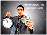 Man is Showing Money and Watch Templates For Powerpoint