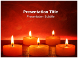 Candle Wall Templates For Powerpoint