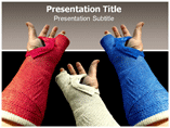 Hand Plaster Templates For Powerpoint