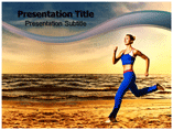 Sunset Jogging Templates For Powerpoint