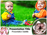 Talking Twins Babies Templates For Powerpoint