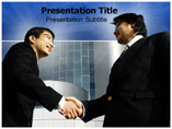 Business Partners Meet Templates For Powerpoint
