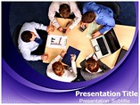 Meeting On Conference Table Templates For Powerpoint
