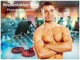 Fitness Tips For Man Templates For Powerpoint