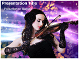 Girl With Violin Templates For Powerpoint
