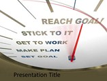Achieving the Goal at the Time PowerPoint Slides