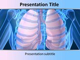 Medical powerpoint template - Human Lungs
