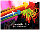 Color Arrow Abstract Templates For Powerpoint