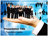 Group of People on Human Palm Templates For Powerpoint