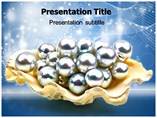 Pearls Putting On Oyster Shell Templates For Powerpoint