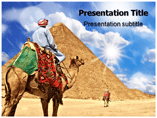 Pyramid With Camel Templates For Powerpoint