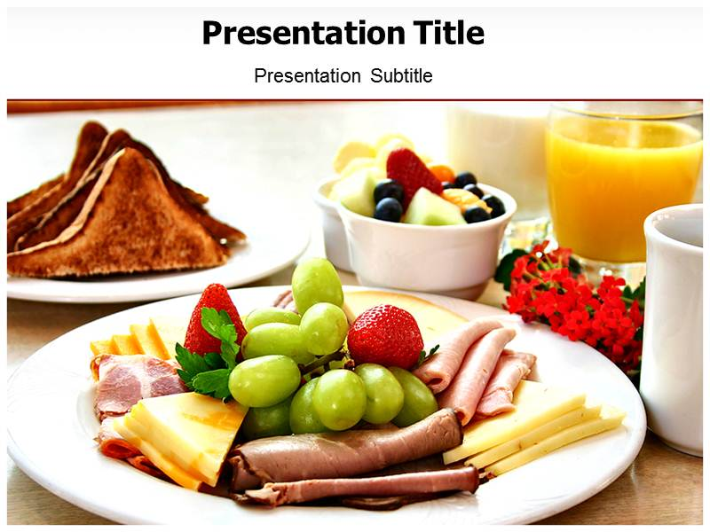 Breakfast Nutrition Templates For Powerpoint