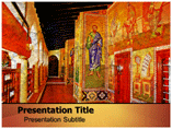Greek Paintings Templates For Powerpoint